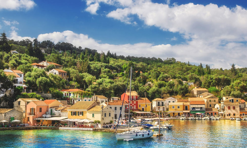 THE IONIAN ISLANDS: A PALLETE OF BLUE